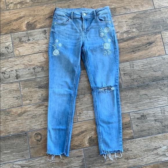 Old Navy Denim - Old Navy Rockstar Jeans, embroidery design, 6